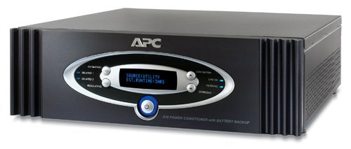 APC S10BLK AV Black 1kVA S Type Power Conditioner with Battery Backup 120V