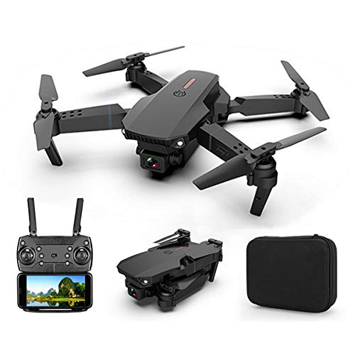 XIAOKEKE E88 Drone with Camera for Adults, Drone for Children, Drone for Beginners with Altitude Hold, WiFi FPV Quadcopter with 4K Wide Angle Camera Live Video Mobile APP Control,Black