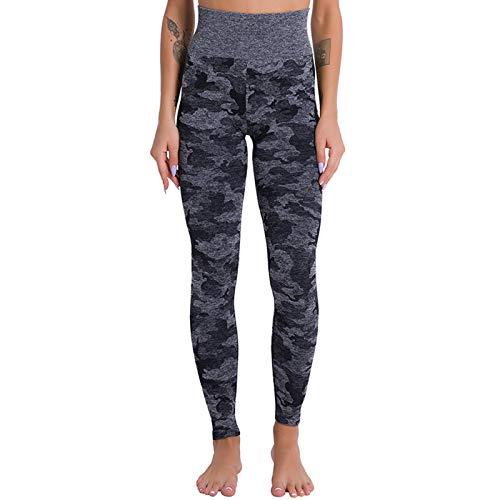 ZXD Pantalones De Yoga Deportivos para Mujer, Mallas De Cintura Alta con Control De Abdomen, Pantalones Ajustados Elásticos Suaves, Pantalones para Correr,Negro,M