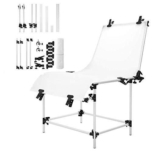 ZHOUHUAW Professioneller Studio-Stillleben-Tisch,180°Verstellbarer Tragbarer Studio-Aufnahmetisch, Durchscheinendes 60 X 130 cm Großes PVC-Doppelpanel Für Produkt Und Videoaufnahmen,100X200CM