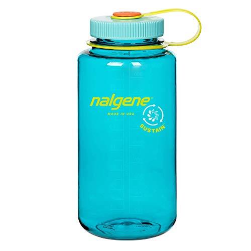 Nalgene Botella de agua Sustain Tritan de boca ancha sin BPA, hecha de 50% de contenido reciclado certificado
