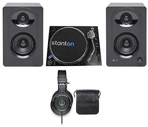 Best Buy! Stanton ST.150 M2 Turntable+Samson Powered Monitors+Audio Technica Headphones