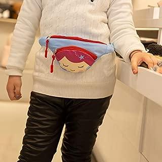 Fashion Single-Shoulder Bags Cute Cartoon Girl Oxford Cloth Single Shoulder Bag Kids Waist Chest Bag Messenger Bag (Pink) (Color : Blue)