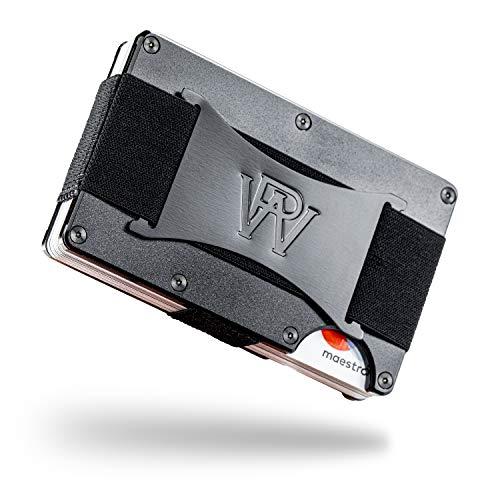 RFID Kreditkartenetui 15 Karten mit Geldklammer | Kartenetui RFID NFC Schutz | Mini Portemonnaie Herren | Geldbeutel Karten | Geldklammer Herren