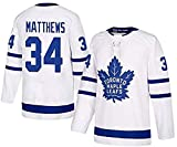 ZRHXN Toronto Maple Leafs #34 Matthews Camisetas Hockey Jersey sobre Hielo NHL Hombre Ropa Respirable T-Shirt de Manga Larga,L