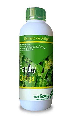 GreenFaculty - Ortiga - Insecticida Fungicida Ecológico. Plantas de Interior, Exterior, Jardín y Huerto. Antiplagas Pulgones, Araña Roja y Hongos. Estimula el Crecimiento. Purín de Ortiga Líquido1L