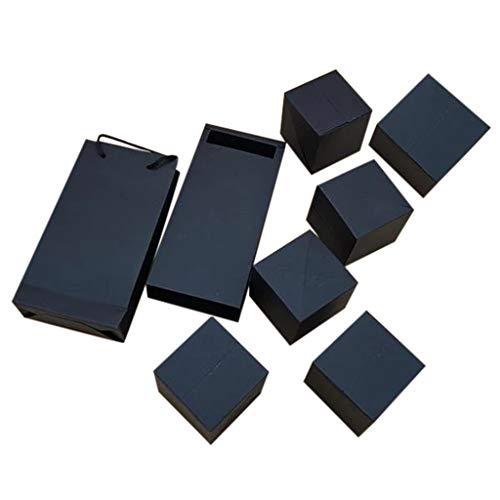 Routinfly Album Geschenkbox Set Springende Überraschungsfotobox Fertige Sprungbox (1 große Box + 6 kleine Quadrate) (Schwarz)
