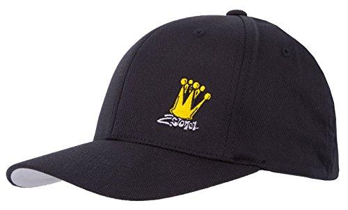 2Stoned Flexfit Cap in Schwarz mit Stick Crown Größe S/M (56cm - 58cm), Basecap für Damen und Herren