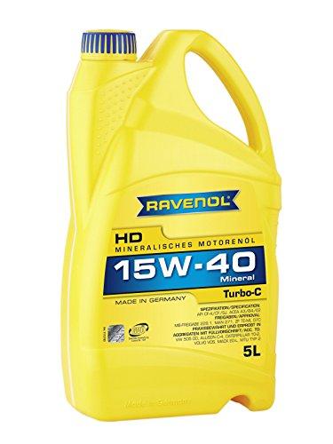 RAVENOL Turbo-C HD-C SAE 15W-40 - Aceite para motor (5 L)