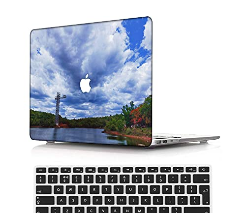 NEWCENT MacBook Pro 13' Funda,Plástico Ultra Delgado Ligero Cáscara Cubierta EU Teclado Cubierta para MacBook Pro 13 Pulgadas con Touch Bar Touch ID(Modelo:A2338 M1/A2289/A2251),Serie Cielo 0207