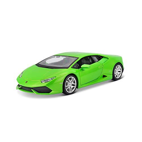 Maisto Lamborghini Huracán LP 610-4: Originalgetreues Modellauto 1:24, Türen und Motorhaube zum Öffnen, Fertigmodell, 20 cm, grün (531509)