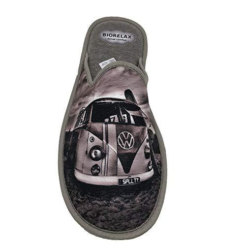 Zapatillas de Estar por Casa/Biorelax/Hombre/Empeine: Lona/Suela: Goma/Cámarade Aire/Dibujo Furgoneta/Talla 46