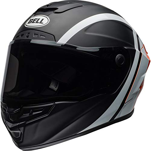 BELL Star MIPS Tantrum Casco de Motocicleta, Black White Orange, Extra-Large