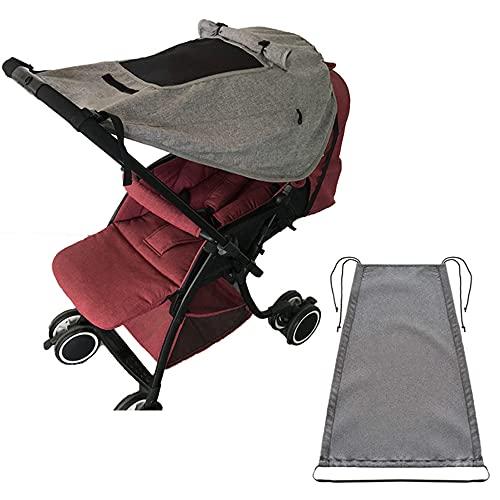 AODOOR Tenda da sole per passeggino, protezione solare, parasole universale con rivestimento di protezione UV, funzione avvolgibile, protezione antipioggia universale per passeggino