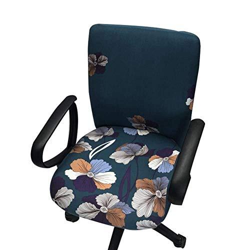 LG Snow Computer Büro-Stuhl-Abdeckung Split Schutz dehnbarer Stoff Polyester Universal-Tisch Aufgaben-Stuhl Rotating Hussen Stretch Rotating Chair Slipcover (Color : G)