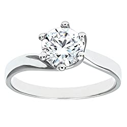 Elegantly crafted in 9 ct white gold for a rich tone and brilliant sparkle Set with cubic zirconia, a synthetic stone with a flawless look and colour Citerna boasts classic gold and silver jewellery that is both versatile and timeless Presented in a ...