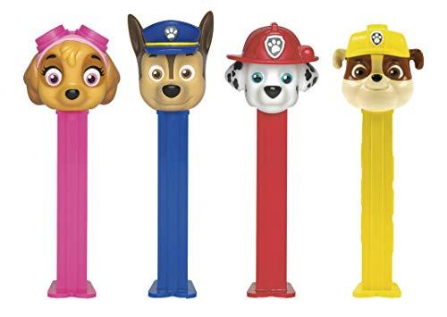 Pez Candy Dispensers - Paw Patrol Dispenser Set: Chase, Skye, Marshall and Rubble (4 Dispenser Set)