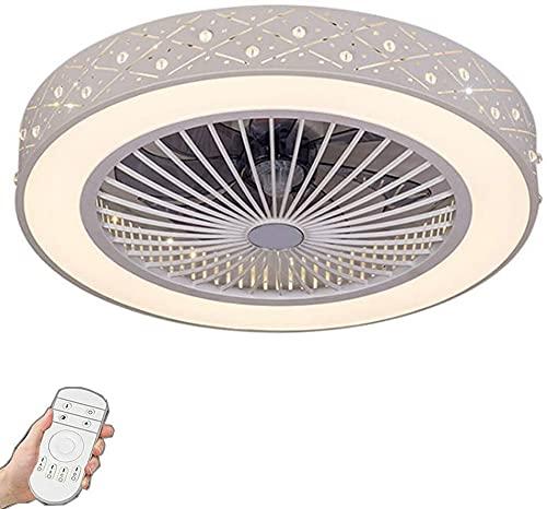 Ventiladores de techo con lámparas, ventilador de techo LED Luz de techo de ventilador moderno con iluminación 80W Dimmable Control remoto de control remoto Lámpara de ventilador Ventilador silencioso