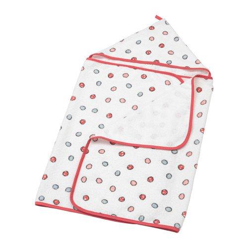 IKEA Bussig ręcznik z kapturem wielokolorowy 303.687.18 rozmiar 24x49
