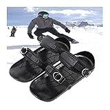 TIREOW Mini Skates Snow Skiboard Snowblades Fixations Snowfeet Chaussures De Ski, Bottes De Ski De Deuxième Génération Boucle en Nylon en Métal Mini Skis, Winter Outdoor Wearable General Ski Tools
