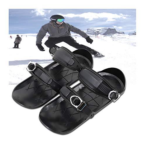 YUEMEI Mini Zapatos De Esquí, Patines De Nieve Patinetas Cortas Fáciles, Pala Para Patinaje Sobre Nieve Trineo De Hielo Bigfoot, Short Skiboard Snowblades Raquetas Ajustable Equipo De Esqui Deportes