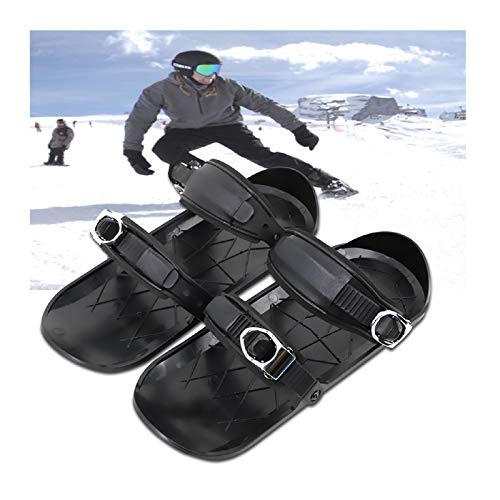 Mini Ski Shoes for Snow Short Skiboard Snowblades Adjustable Snowshoes Lightweight One Size Ski Skates Ski Board Creative Sport Outdoor Snow Board Ski Boots Anti-Slip Foot Panels