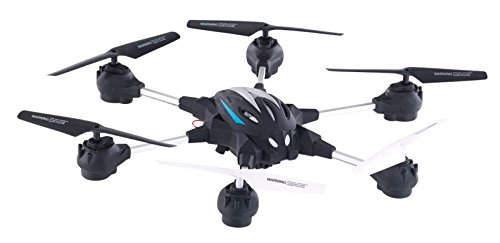 Simulus Hexakopter: Hexacopter GH-50.cam mit VGA-Kamera & Live-View per WLAN, 2,4 GHz, App (Flugdrohne)