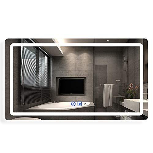 MFWallMirror Badkamerspiegel, led-badkamerspiegel, verlichte wandhouder, anti-condens, toilet verlichtingsspiegel, handen wassen, intelligente spiegel, aanraakgevoelig beeldscherm