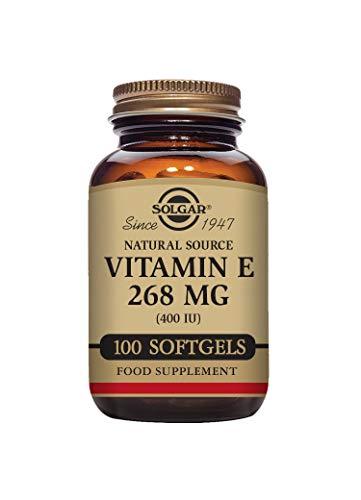 Solgar Natural Source Vitamin E 268 mg (400 IU) Vegetable Softgels - Pack of 100
