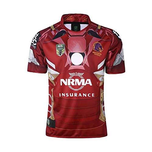 DDsports Brisbane Broncos, Rugby-Trikot, Held Edition 2017, Neue Bestickte Stoff, Swag Sportswear (3XL)