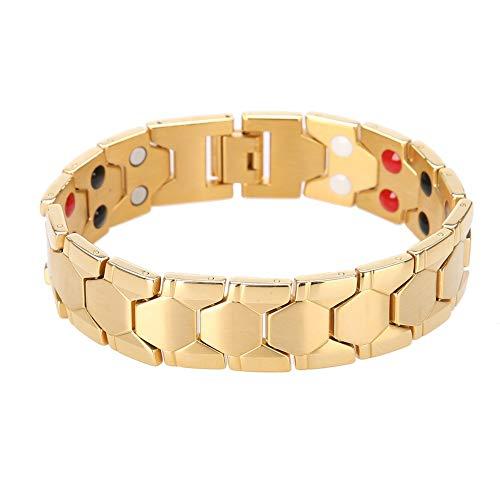 Gesundheitsarmband, Blutdruck-Armband, magnetisch, magnetisch, aus Titan gold