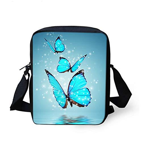 3D-Druck Schmetterling Schüler Handtasche Kinder Umhängetasche Schultertasche Rucksack Kinder Kleine Tasche Jugend Tasche