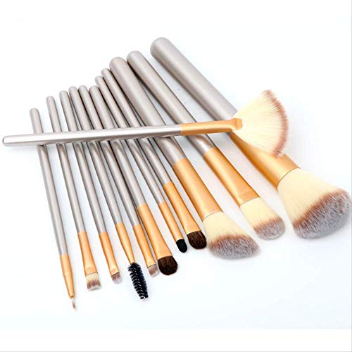 Maquillage Professionnel Synthetic Brushes Maquillage Cosmétique Brosse Eyeshadow Foundation Eyeliner Brush Kits 12Pieces