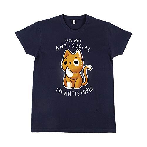 Pampling Camiseta Antisocial - Gato - 100% Algodón - Serigrafía