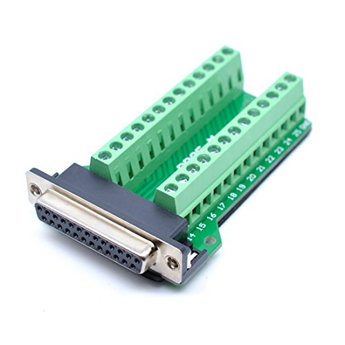DB25 Conector a Terminal de cableado Db25 Tablero de Rotura sin Soldadura Female/Riveting