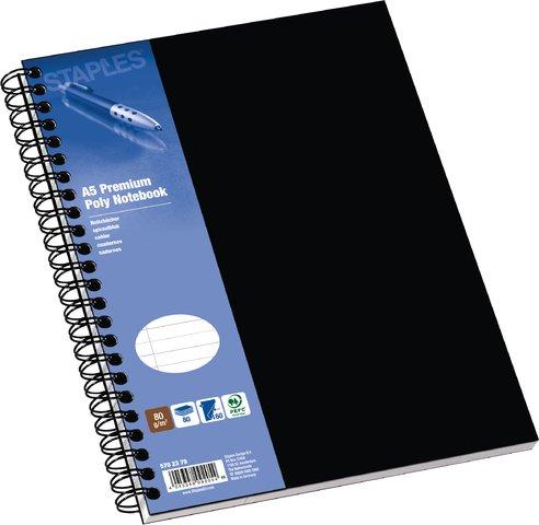 Collegblock Poly Notebook lin. schwarz A5 80g 80 Bl