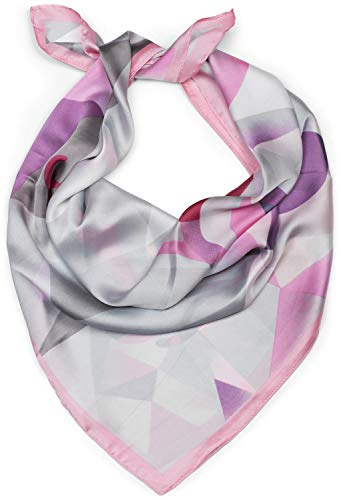 styleBREAKER pañuelo de mujer cuadrado con estampado geométrico de ciervo, pañuelo multifuncional, pañuelo para el cuello, pañuelo para la cabeza, bandana 01016192