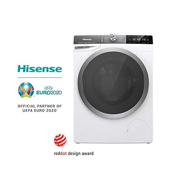 Hisense WFGS9014V – Lavadora Superior Carga Frontal 9 Kg ,1400 RPM, Motor Eficiente Inverter, Ion Gen 14 Programas…
