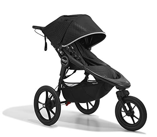 Baby Jogger Summit X3 Kinderwagen zum Joggen | zusammenklappbarer 3-Rad-Sportkinderwagen | Midnight Black