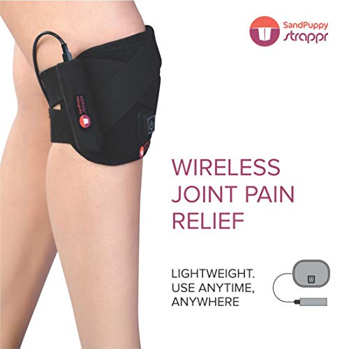 SandPuppy Strappr | Wireless Heating Pad | For Knee pain, Ankle Pain and Joint pain (Medium)