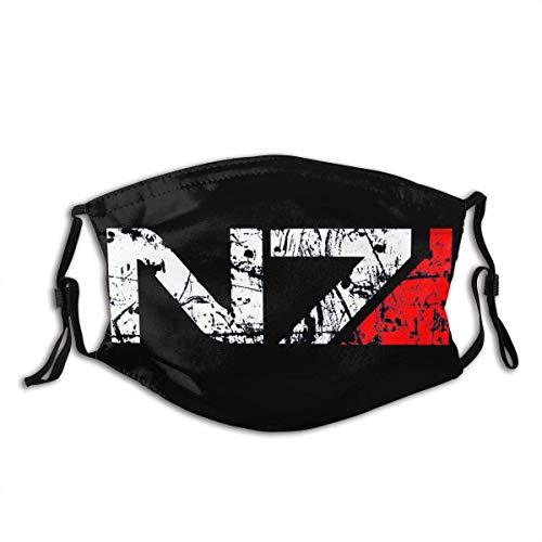 Mass Effect N7 Nahtlose Gesichtsbedeckung Sturmhaube Staub- & UV-Sonnenschutz für Festivals und Outdoor