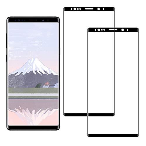 SNUNGPHIR Pellicola Protettiva per Samsung Galaxy Note 8 Vetro Temperato, 3D Curvo Copertura Completa, Anti-graffio, Anti-Impronta Digitale, Senza Bolle Pellicola di Vetro, 2 Pezzi