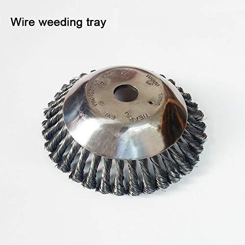 Brosse rotative pour désherbeur - 20,3 cm - Accessoire de désherbage - Fil d'acier - 25,4 mm x 200 mm - Ajustement universel - Arbre droit pour tondeuse Sthil, Honda, etc.