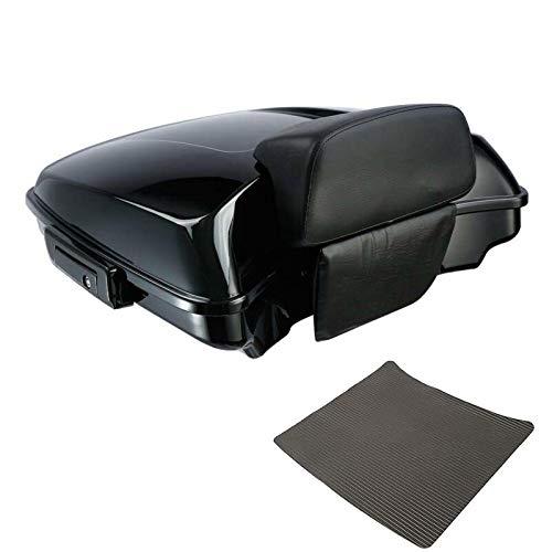 TCMT Black Latch Razor Tour Pack Trunk Backrest Pad Fit For Harley Touring Road Street Glide Electra Glide 2014-2020 19