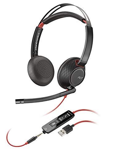 Plantronics C5220 Binaural USB und Kopfhörer, 35 mm Schwarz