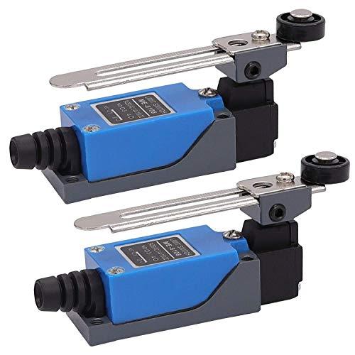 2 Finales de carrera Arduino con brazo de palanca ajustable NC-NO Router del molino de CNC ME-8108
