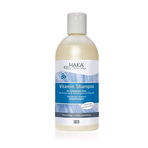 HAKA Anti Schuppen Shampoo I 500 ml I Haarshampoo mit Vitamin B C E Komplex I Mildes Shampoo gegen trockene Kopfhaut I Für Frauen & Männer