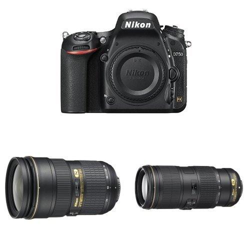 Best Price! Nikon D750 DSLR Camera w Nikkor 24-70mm F2.8 and Nikkor 70-200 F4 VR Lens Bundle