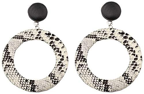 Punk Snake Earrings Unique Hoop Geometric Circle Big Earrings Stud Dangle Earrings for Women Girls (Punk Round Earrings)