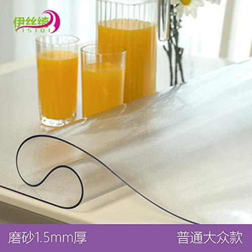 HOMEJYMADE Nappe Transparente en PVC Rectangle Imperméable Résistant au Froid la Chaleur Housse de Table Housse de Protection de Meubles en Bois-B 90x160cm(35x63inch)